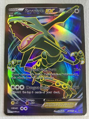 Pokemon XY Roaring Skies Rayquaza EX 104/108 Full Art Ultra Rare