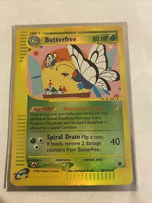 BUTTERFREE 38/165 Reverse Holo Rare Expedition Base Set Pokemon Card Played
