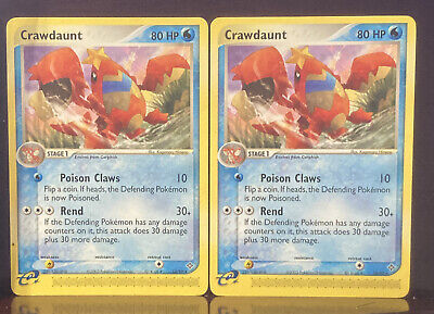 X2 Pokemon EX Dragon Crawdaunt 13/97 Non-foil Great Condition