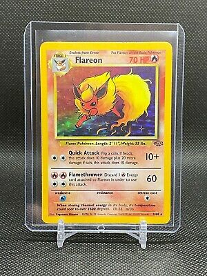 1999 Pokemon TCG Jungle Unlimited #3 Flareon Holographic Rare Lightly Played