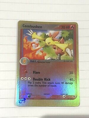Pokemon EX Ruby And Sapphire Combusken 27/109 Rev Holo Near Mint
