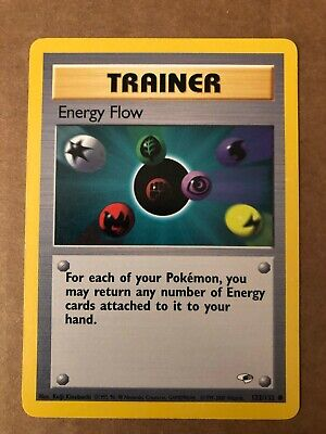 Pokemon Energy Flow 122/132 Gym Heroes NM See Pictures