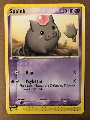 Pokemon Spoink 74/97 ex Dragon NM See Pictures