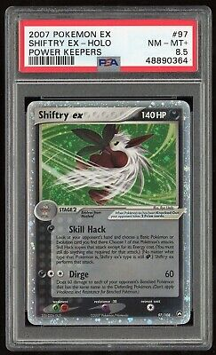 2007 Pokemon EX Power Keepers Shiftry ex Holo 97/108 PSA 8.5 NM-MT+