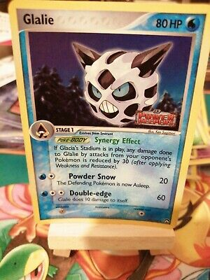 Pokemon card Glalie 30/108 Ex Power Keepers Stamped Holo Promo Prerelease