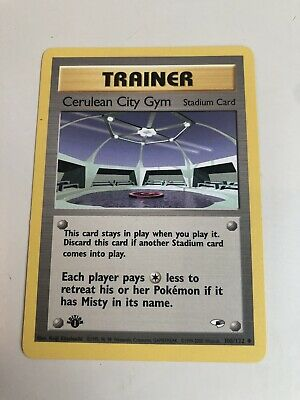 Pokemon TCG Gym Heroes FIRST EDITION Cerulean City Gym 108/132 Mint