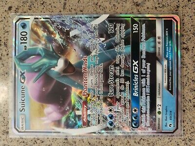Pokemon TCG - Suicune GX 60/214 SM Lost Thunder Holo Rare Card - NM/MINT