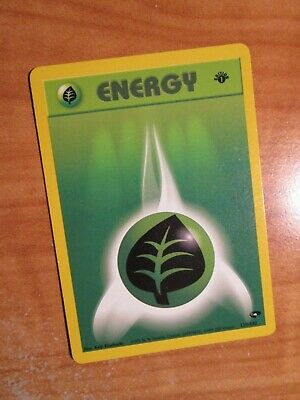 PL (1st edition) Pokemon GRASS ENERGY Card GYM CHALLENGE 129/132 First Ed PLAYED