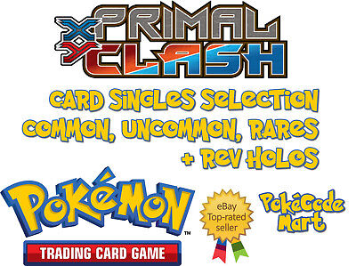 Pokemon TCG Primal Clash /160 Card Selection: Common, Uncommon, Rare + Rev Holos