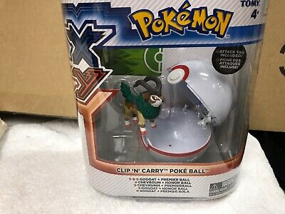 New in box Pokemon XY clip and carry poke ball GOGOAT CHEVROUM CHEVRUMM
