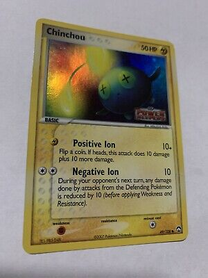 Chinchou 49/108 POWER KEEPERS Reverse Holo Common Pokemon Card (LP) 110919