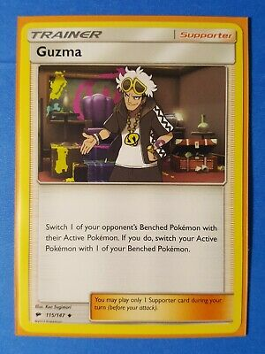 Guzma 115/147 Pokemon card SM Burning Shadows uncommon NM