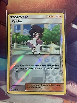 Wicke 127/147 Reverse Holo ~ Pokemon S&M Burning Shadows ~ Pack Fresh