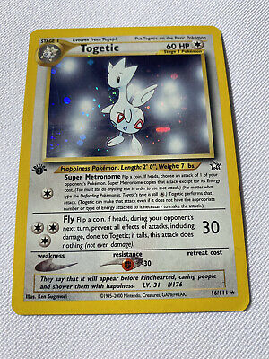 Neo Genesis First Edition Togetic 16/111 Pokemon Card