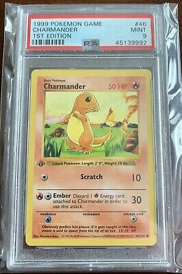 1999 Pokemon Base Set Charmander 1st Edition PSA 9 MINT