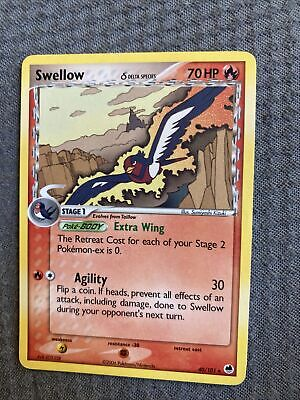 Swellow 40/101 Reverse Holo STAMPED EX Dragon Frontiers Pokemon Pack Fresh NM