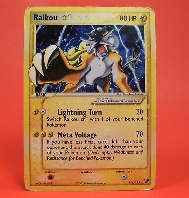 Pokemon TCG English Card Unseen Forces Shining Shiny Gold Star Raikou 114/115