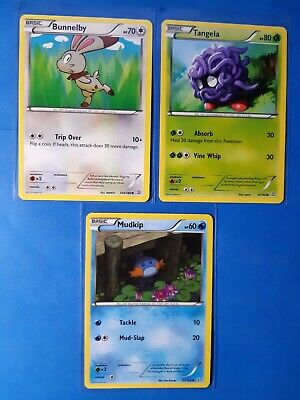Bunnelby 120/160, Tangela 4/160, Mudkip 33/160 Pokemon card XY Primal Clash NM