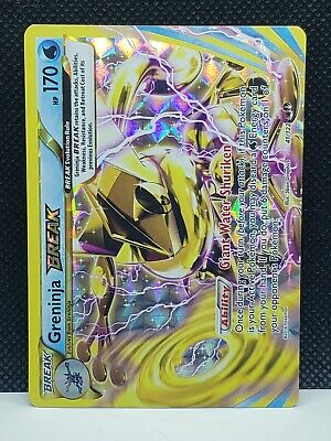 Pokemon Greninja Break XY Breakpoint Holo 41/122 Played Condition
