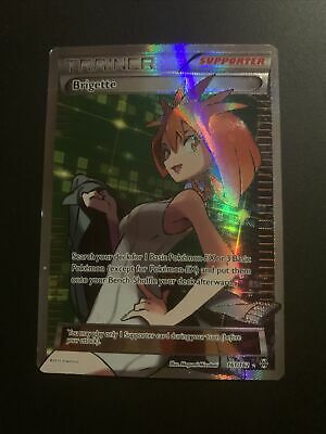 Brigette 161/162 Full Art Trainer XY Breakthrough 2015 Pokemon Card mint