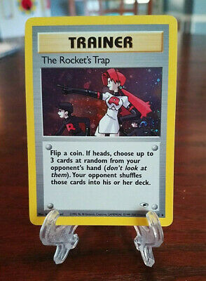 The Rocket's Trap 19/132 Holo Gym Heroes Pokemon Card Vintage 2000