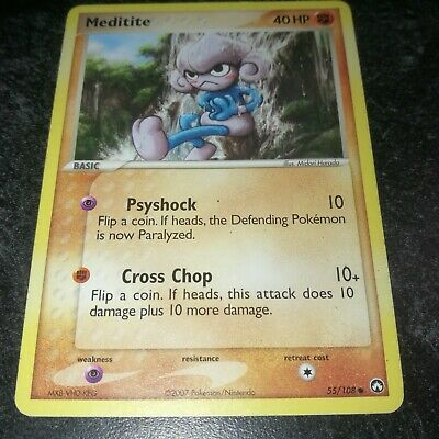 Meditite 55/108 EX Power Keepers  Common Pokemon Card