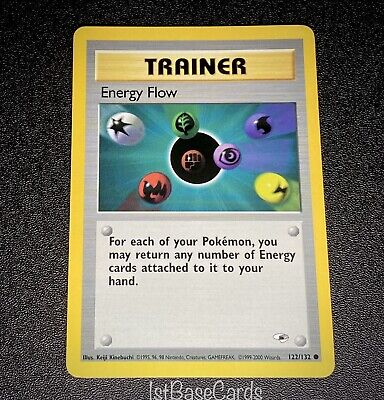 Energy Flow 122/132 Trainer 2000 Gym Heroes Unlimited WOTC Pokemon Cards NM*