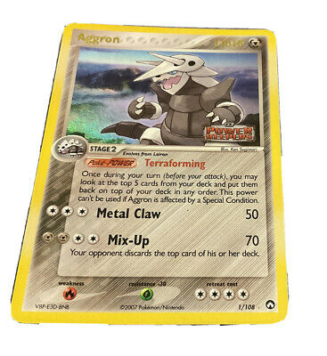 Pokemon 2007 EX Power Keepers AGGRON Reverse Foil/Holo 1/108