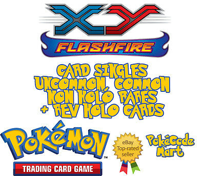 Pokemon XY Flashfire Card Singles Selection: Common, Uncommon, Rare + Rev Holos