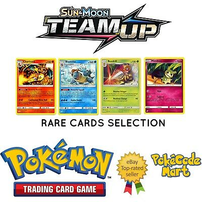 Pokemon Sun & Moon Team Up Rare Cards - Charizard, Ninetales, Blastoise etc
