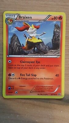 Pokemon card XY Braixen 25/146