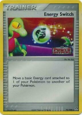 Energy Switch 75/108 EX Power Keepers Holo Uncommon Near Mint NM Pokemon