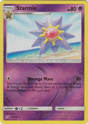 Starmie 65/181 Team Up Reverse Holo Rare Near Mint NM Pokemon DNA GAMES