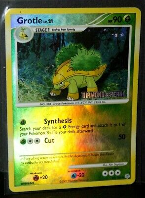 2007 Reverse Holo Pokemon Card. GROTLE 49/130 Diamond & Pearl Stamped Uncommon
