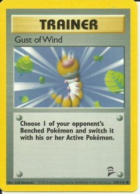 Gust of Wind 120/130 Base Set 2 Common Light Play LP Pokemon DNA GAMES