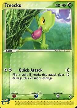 Treecko 80/97 Dragon Common Played Pokemon DNA GAMES