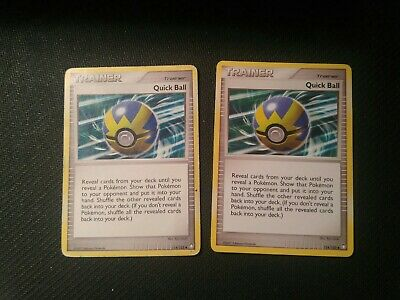 1x Quick Ball 114/123 D&P Mysterious Treasures Pokemon Card