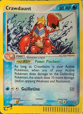 Crawdaunt 3/97 EX Dragon Rare Holo  Pokemon Card LP
