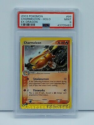 Mint Psa 9 Charmeleon Ex Dragon Set Collection Pokemon Card 99/97 Classic Foil