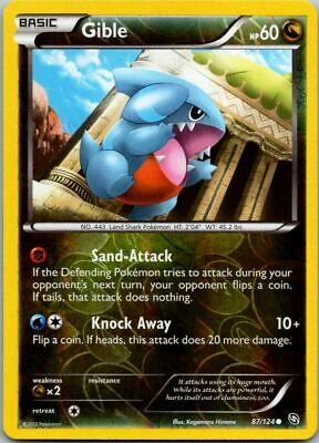 Gible 87/124 Reverse Holo Dragons Exalted Pokemon Card ~ Near Mint