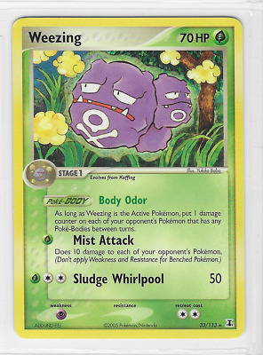 Pokemon Weezing 33/113 Delta Species Rare Near Mint Condition