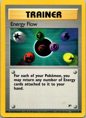 Energy Flow 122/132 Gym Heroes Pokemon Card ~ Played
