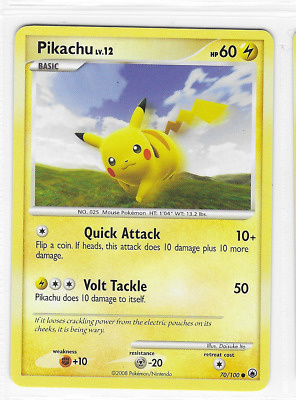 Pokemon Pikachu 70/100 Majestic Dawn Common Mint Condition