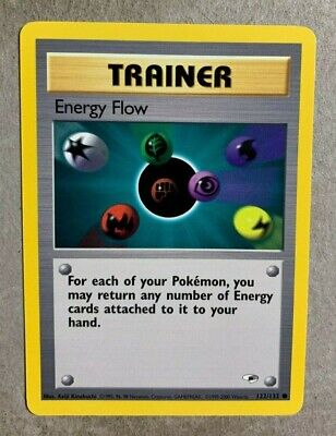 Energy Flow 122/132 Gym Heroes - Common Pokemon Card - NM/Mint