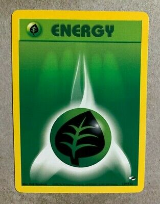 Grass Energy 129/132 Gym Heroes - Common Pokemon Card - NM/Mint