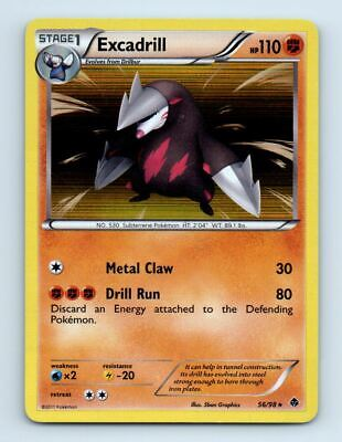 Excadrill 56/98 Holo Emerging Powers Pokemon Card ~ LP