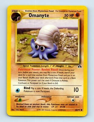 Omanyte 60/75 Neo Discovery Pokemon Card ~ LP
