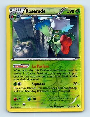Roserade 15/124 Reverse Holo Dragons Exalted Pokemon Card ~ LP