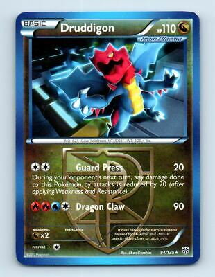 Druddigon 94/135 Non-Holo Plasma Storm Pokemon Card ~ LP