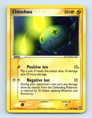 Chinchou 49/108 Non-Holo Ex Power Keepers Pokemon Card ~ LP